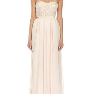 Dresses & Skirts - Blush beaded maxi dress
